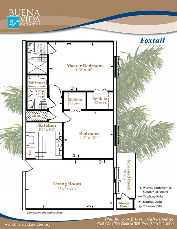 Click here to view a printer friendly version of the floor plan