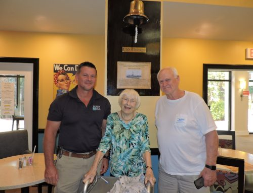 Resident Celebrates 100th Birthday by Ringing Commemorative Bell
