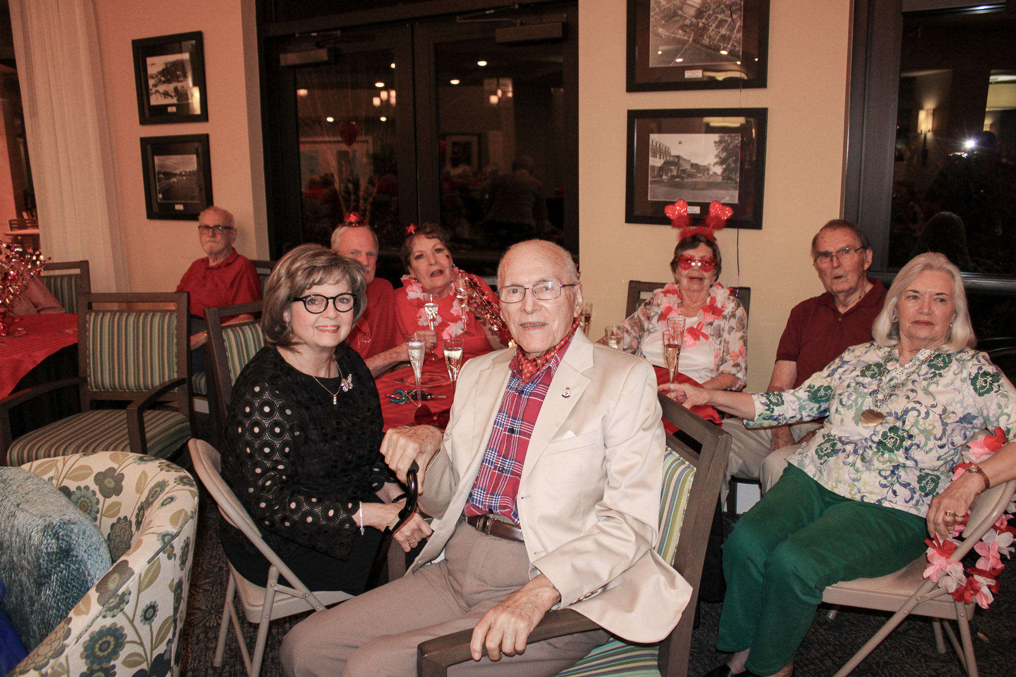 group of older adults spending time together